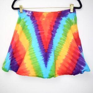 *Tie Dye* American Apparel Jeans Circle Mini Skirt